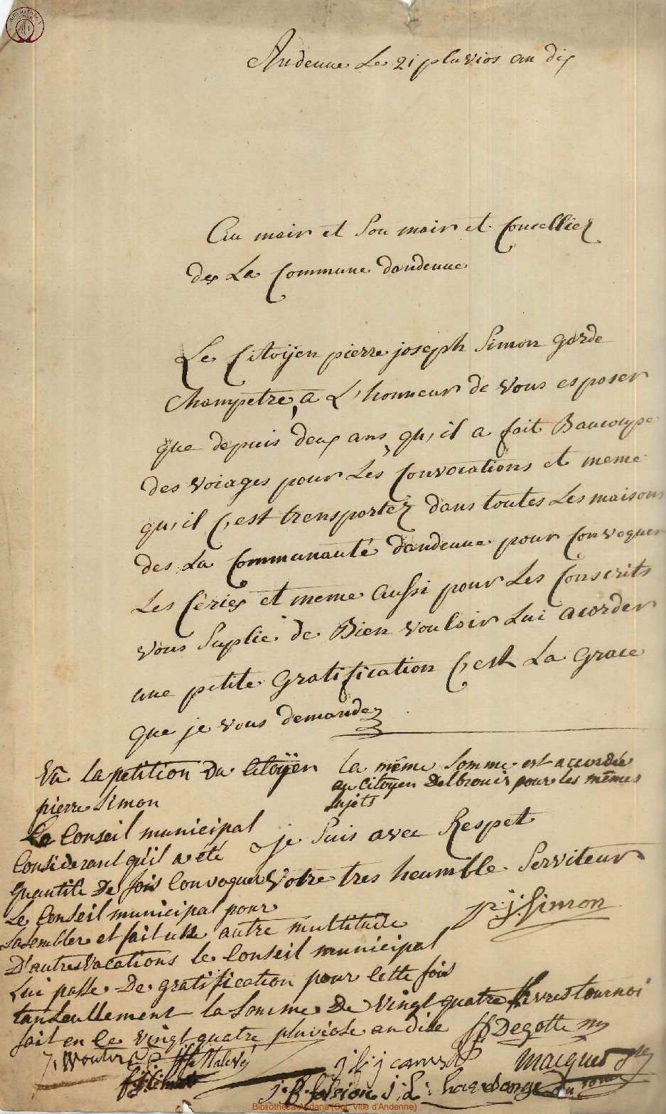 1802-02-1 (21 pluviôse an 10)