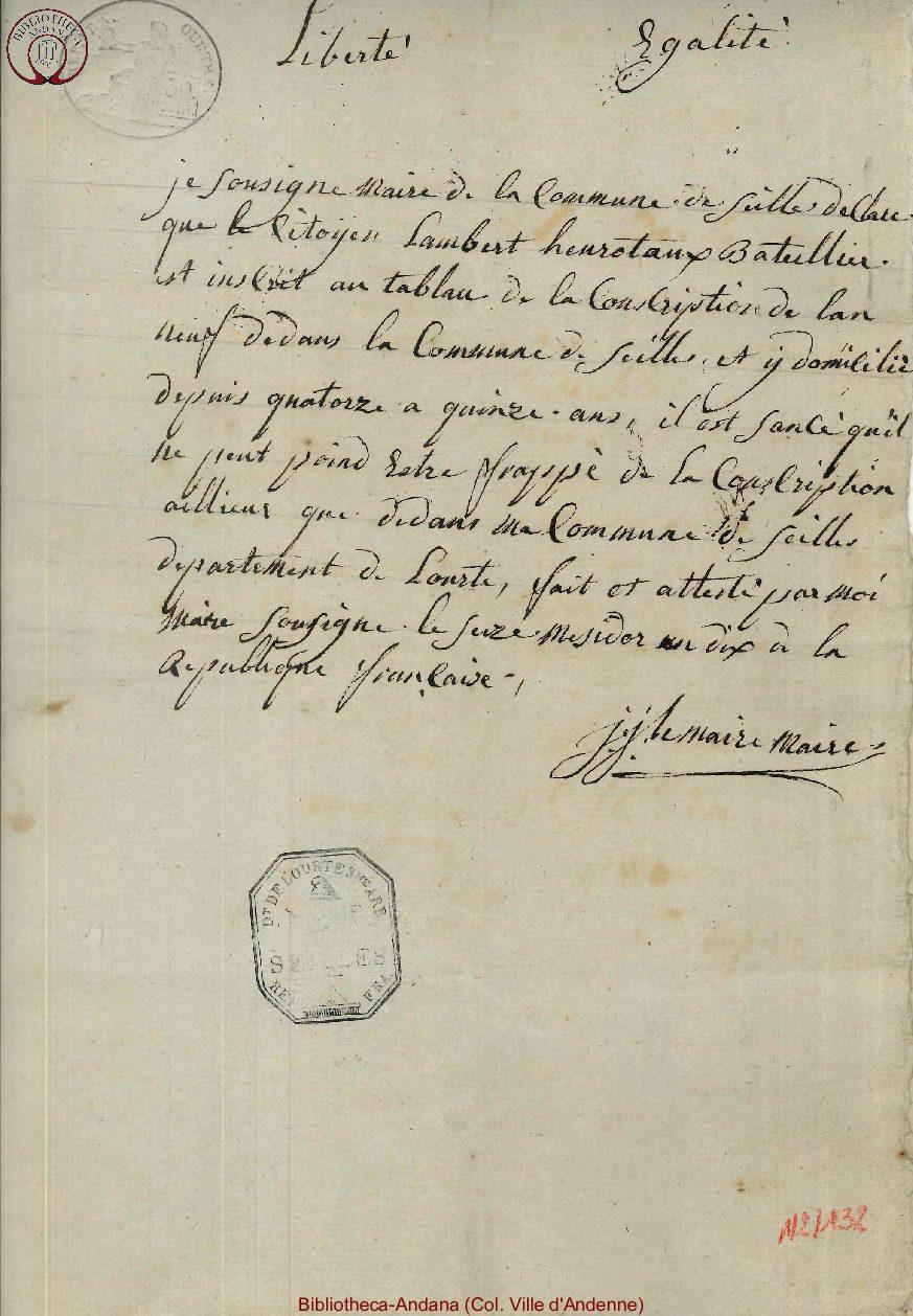 1802-07-05 (16 messidor an 10)