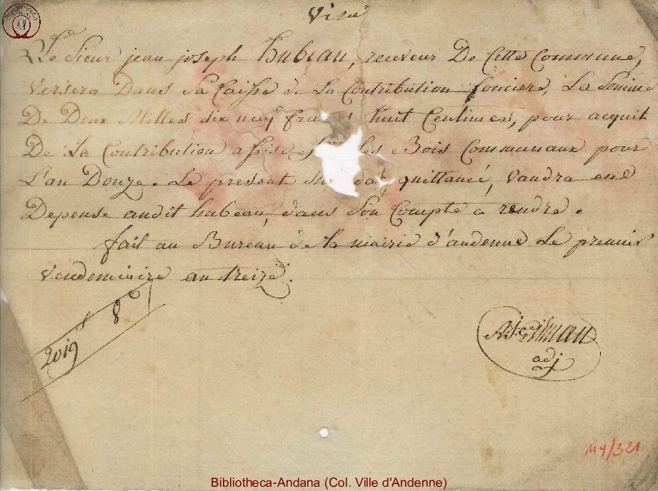 1803-11-09 (1 vendémiaire an 13)
