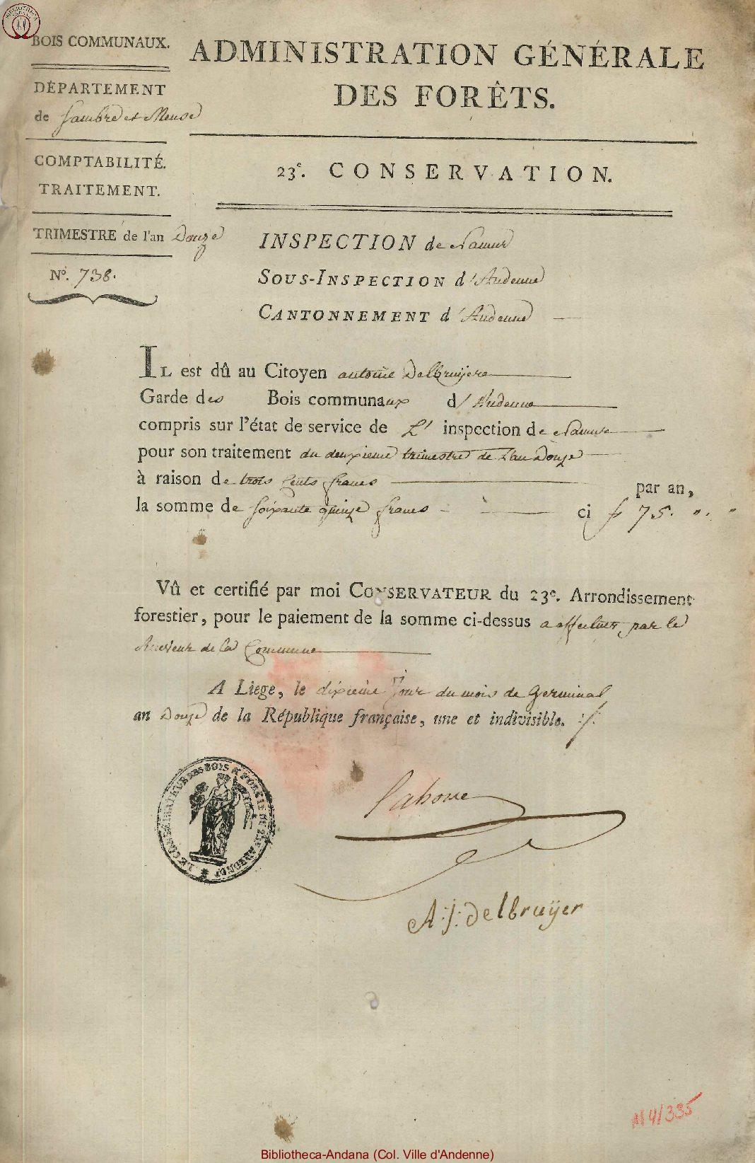 1804-03-31 (10 germinal an 12)