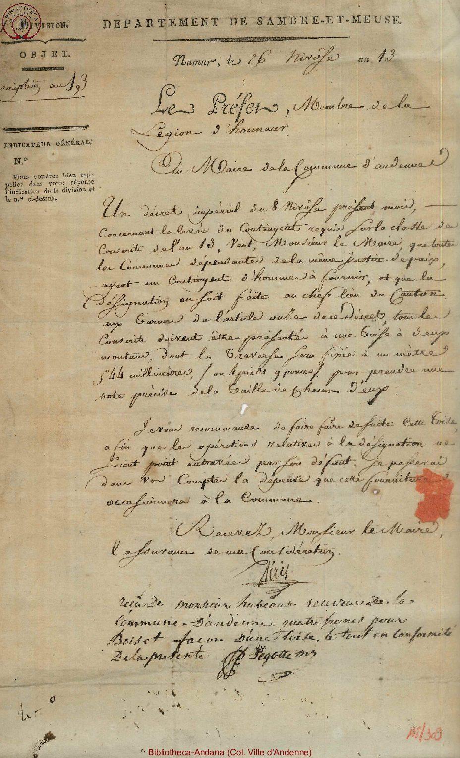 1805-01-16 (26 nivôse an 13)