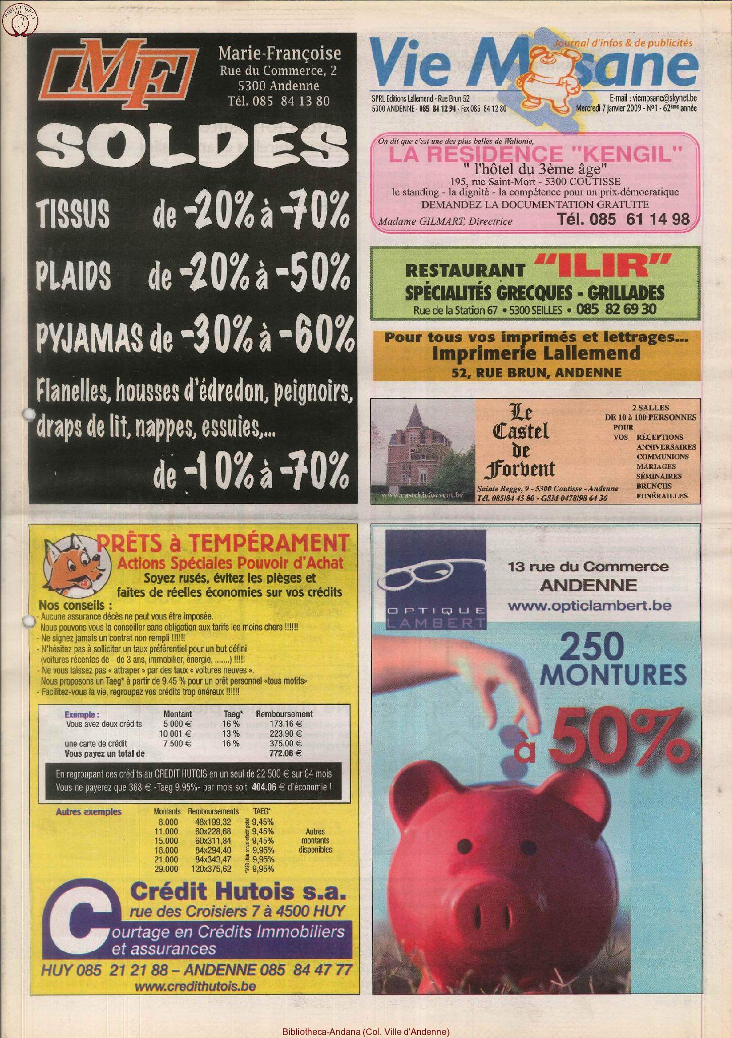 62e année - n°1 - 7 janvier 2009