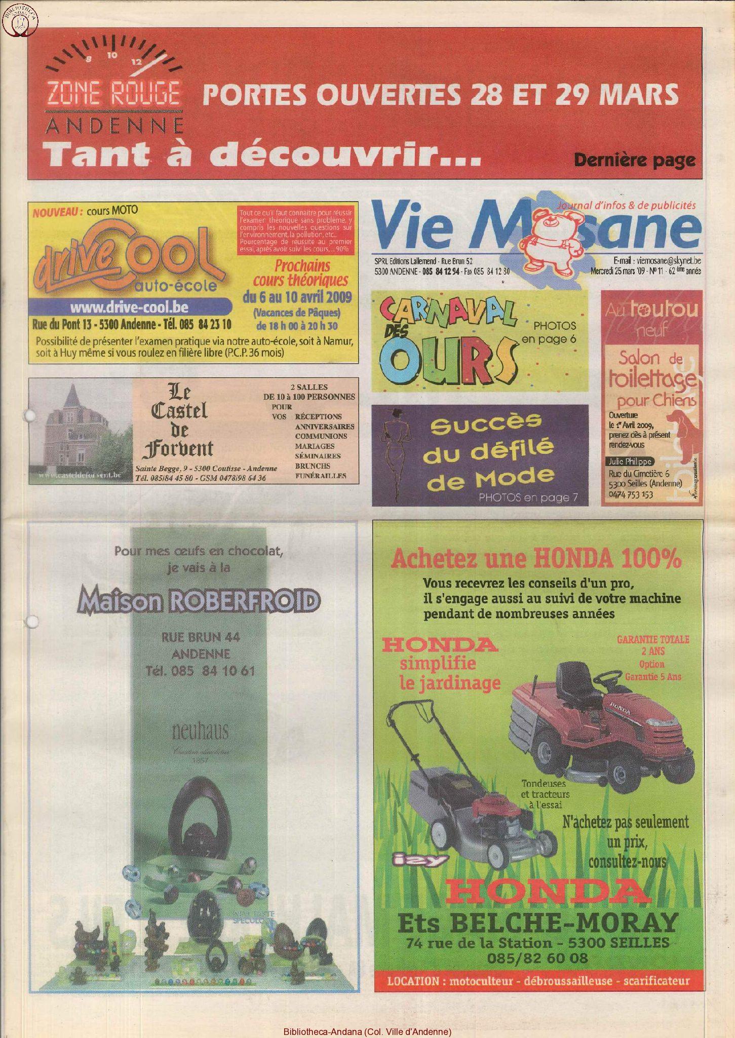 62e année - n°11 - 25 mars 2009