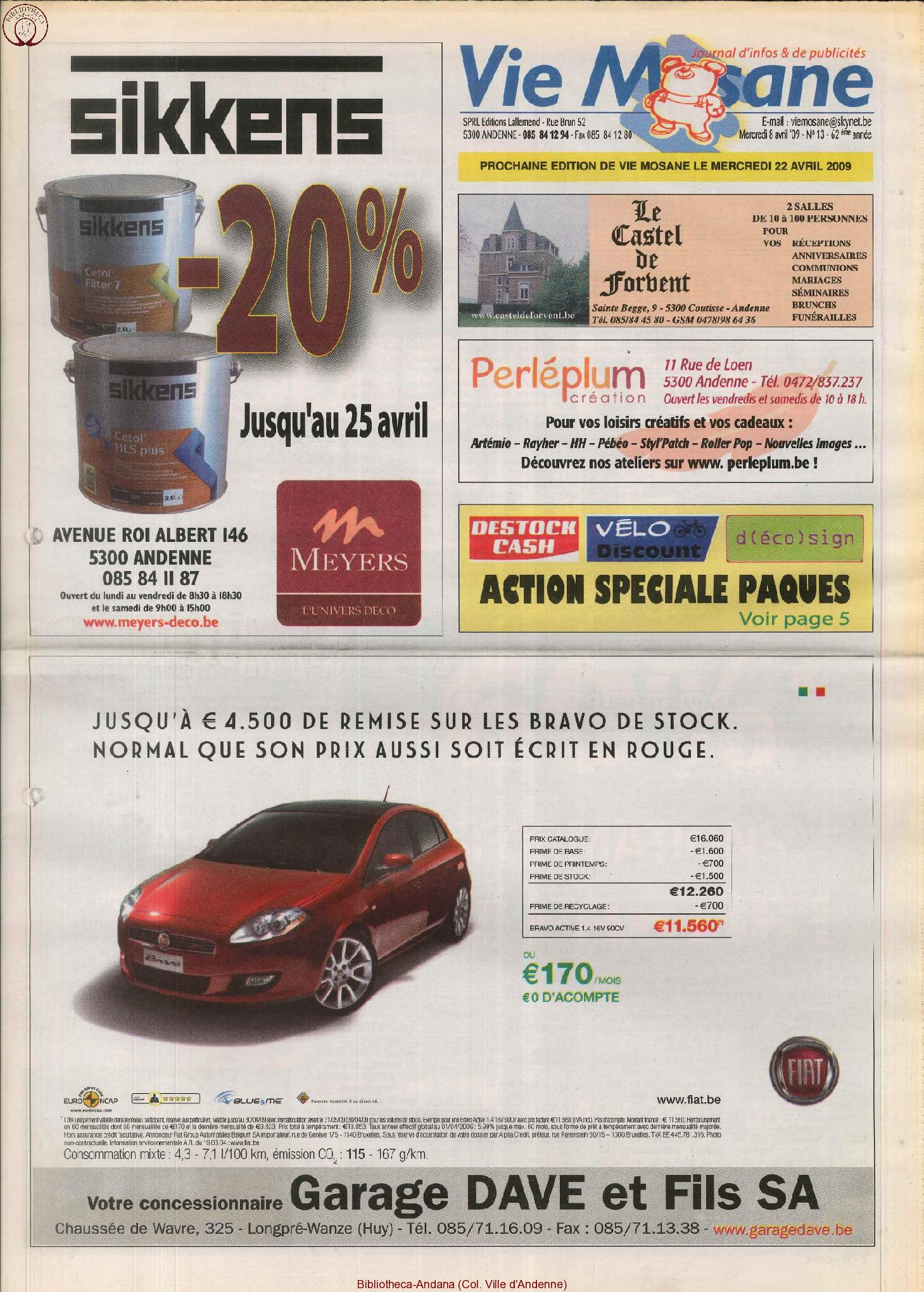 62e année - n°13 - 8 avril 2009