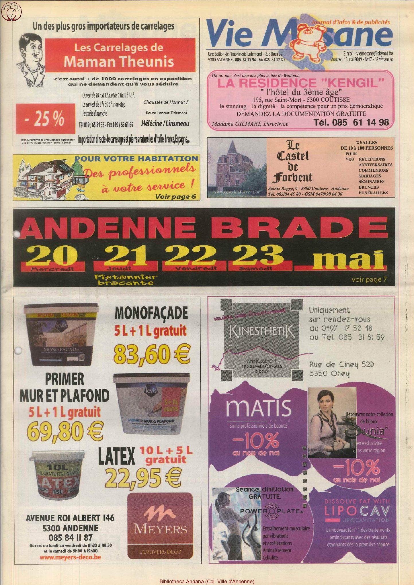 62e année - n°17 - 13 mai 2009