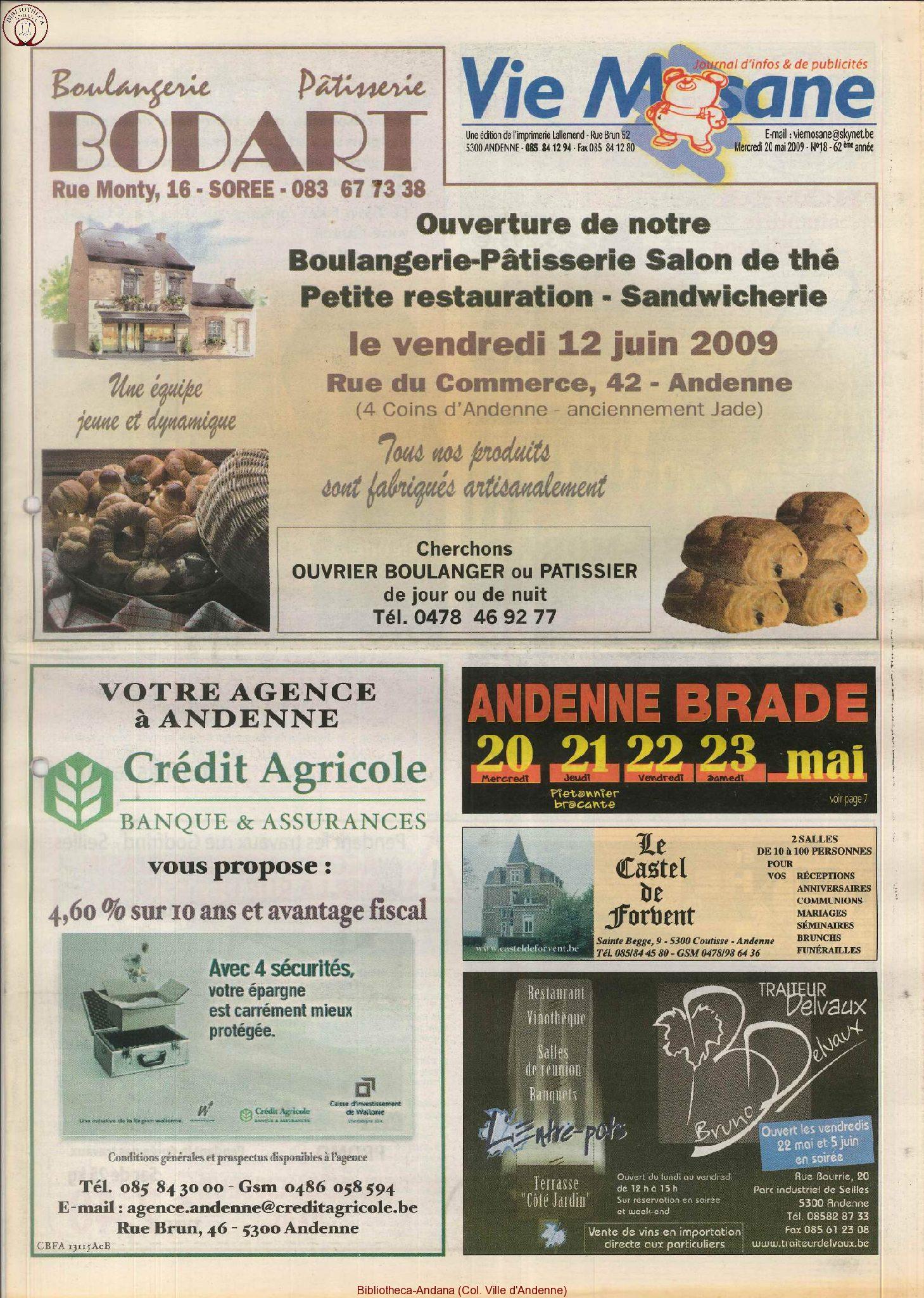 62e année - n°18 - 20 mai 2009