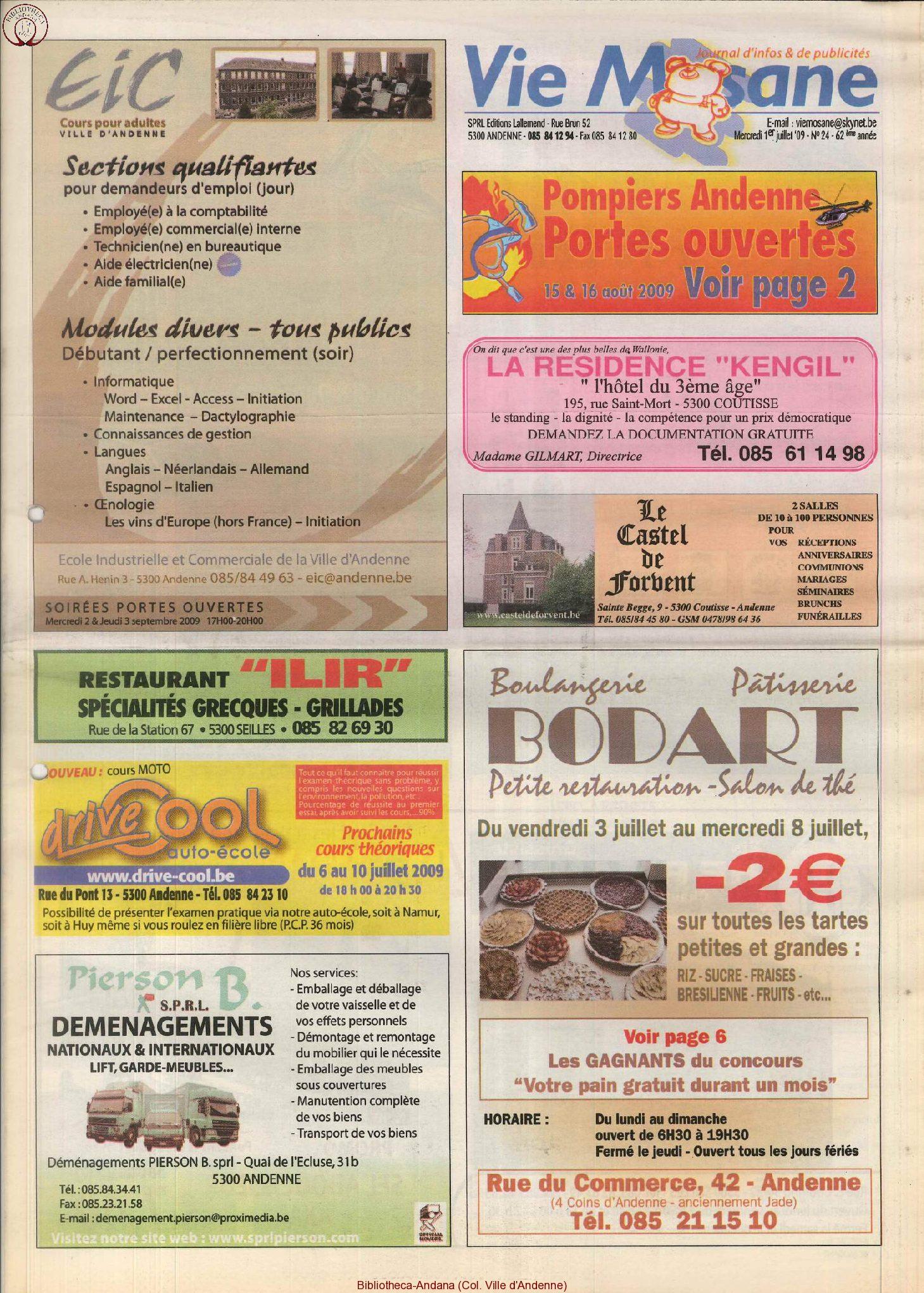 62e année - n°24 - 1er juillet 2009