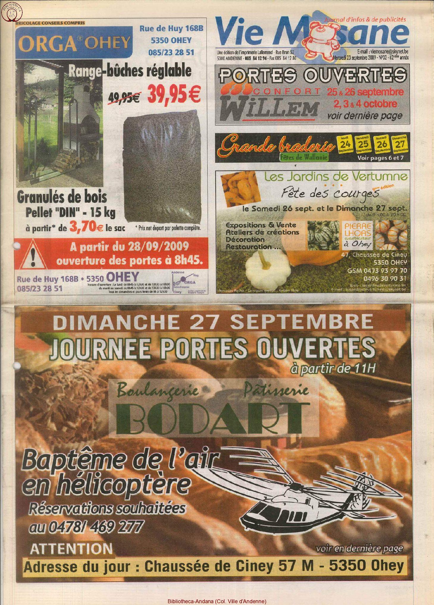 62e année - n°32 - 23 septembre 2009