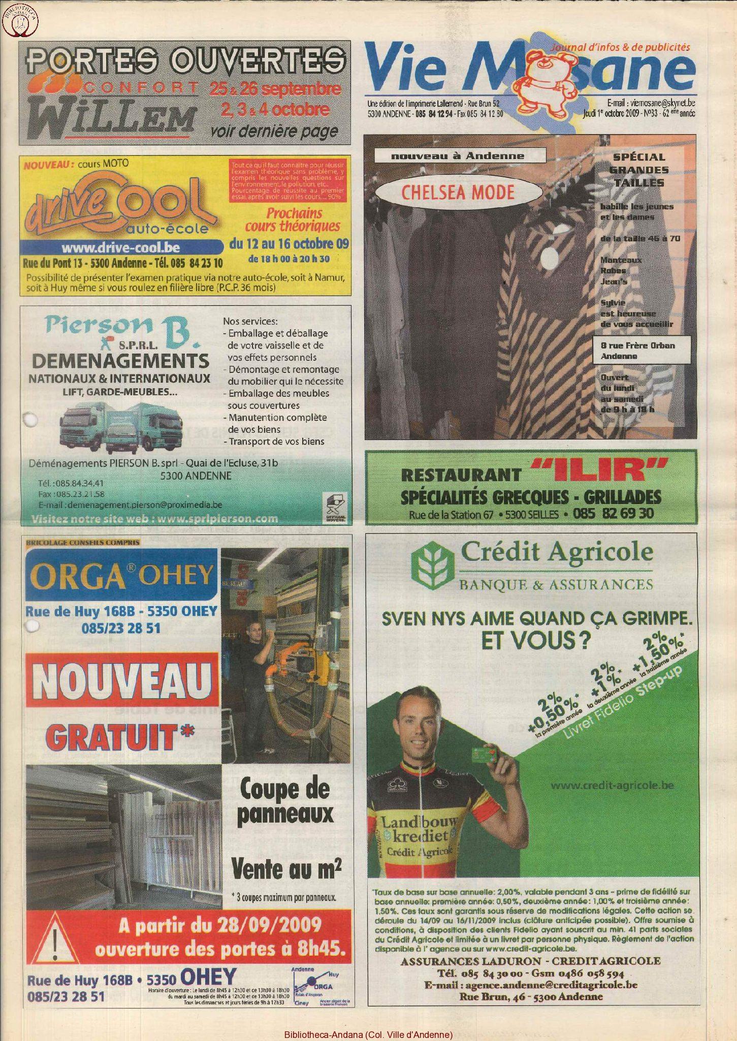 62e année - n°33 - 1er octobre 2009