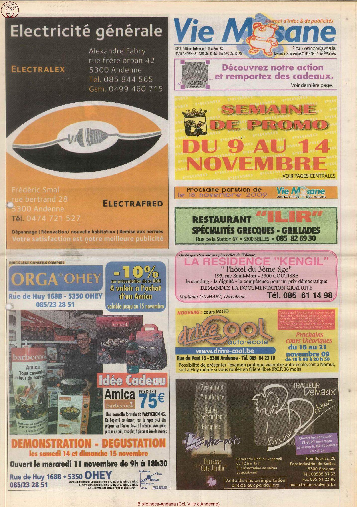 62e année - n°37 - 4 novembre 2009