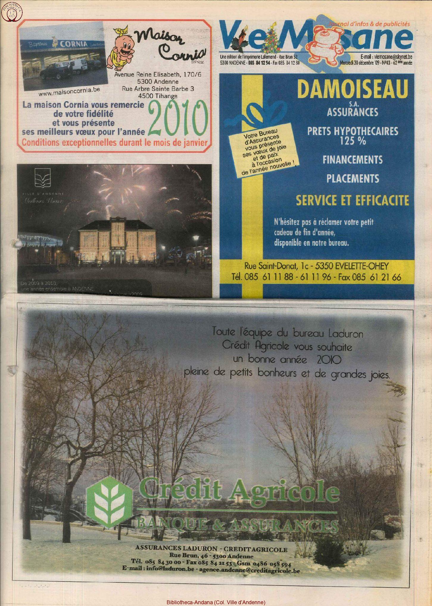 62e année - n°43 - 30 decembre 2009