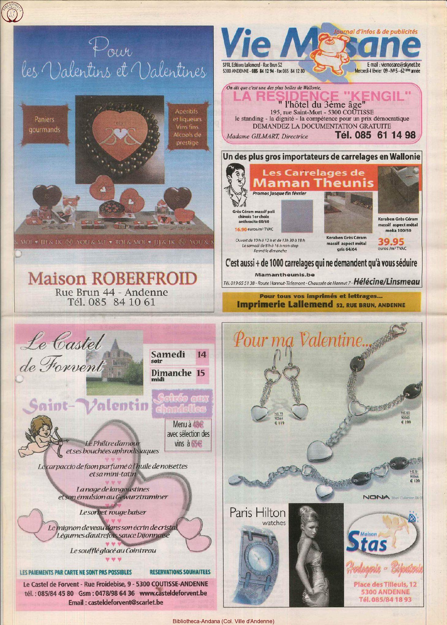 62e année - n°5 - 4 février 2009