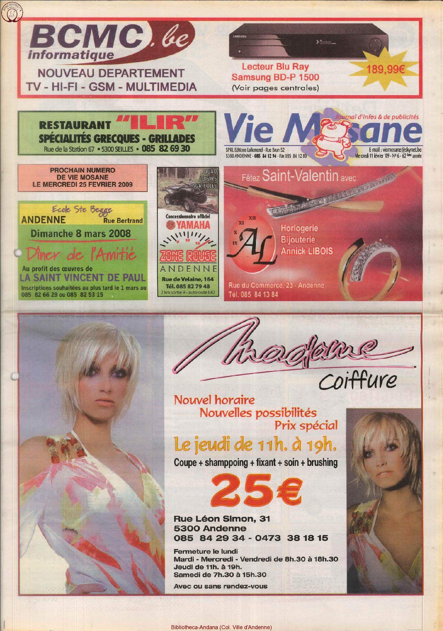 62e année - n°6 - 11 février 2009