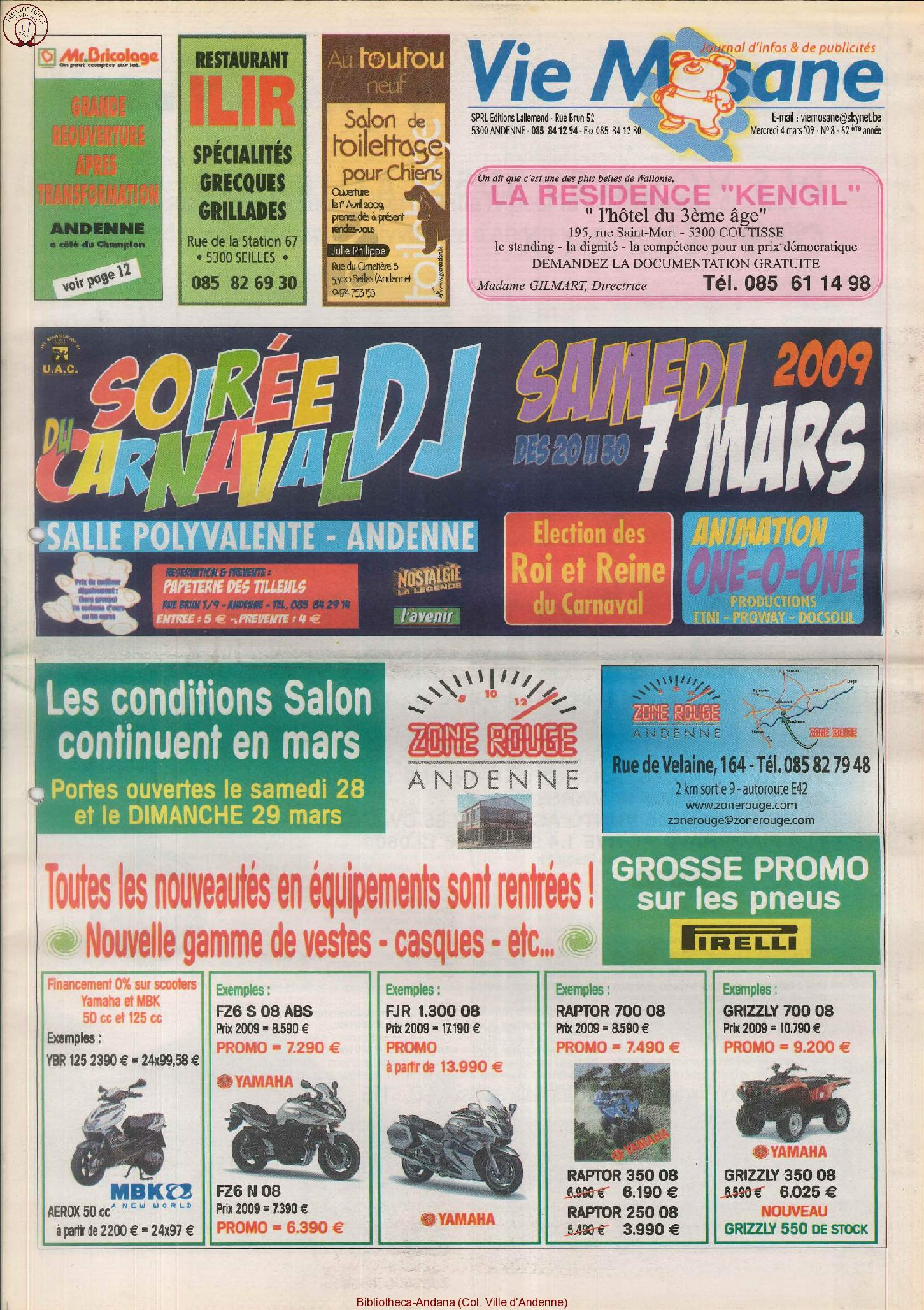 62e année - n°8 - 4 mars 2009