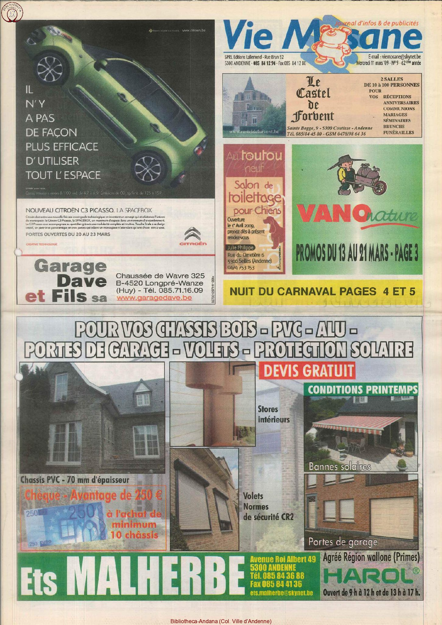62e année - n°9 - 11 mars 2009