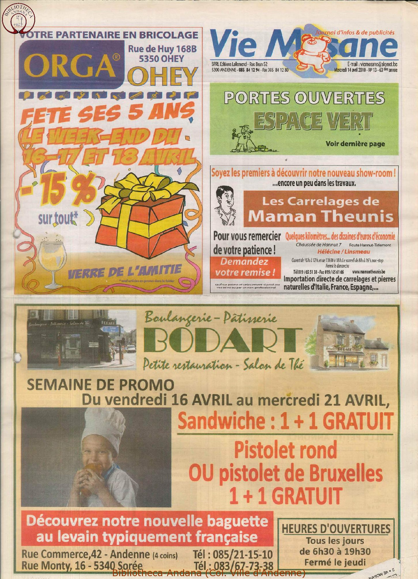 63e année - n°13 - 14 avril 2010