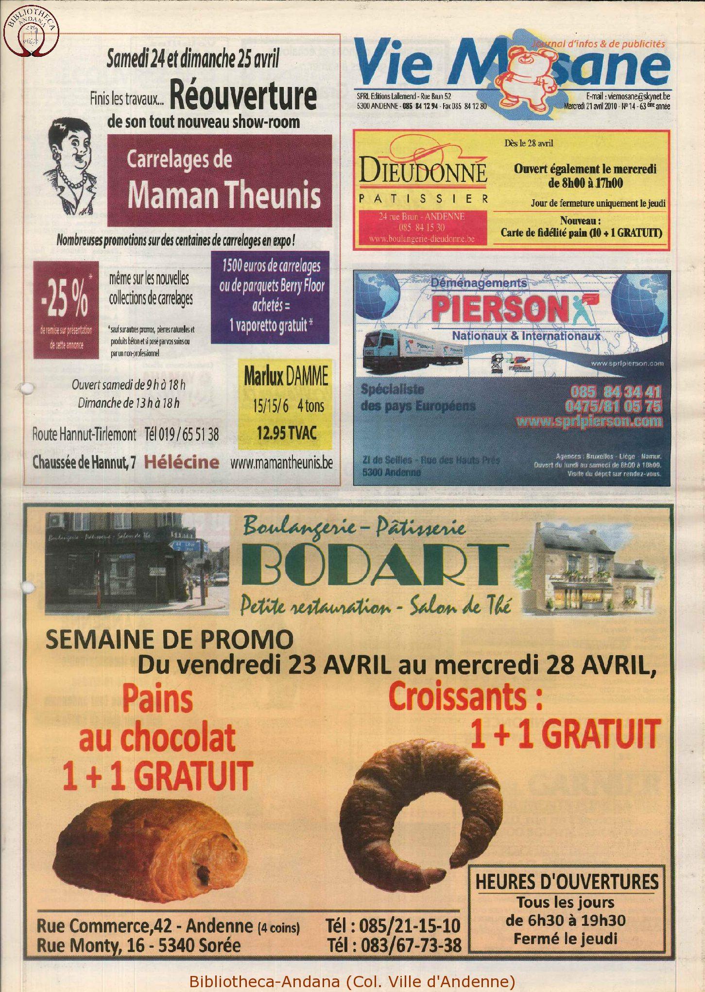 63e année - n°14 - 21 avril 2010