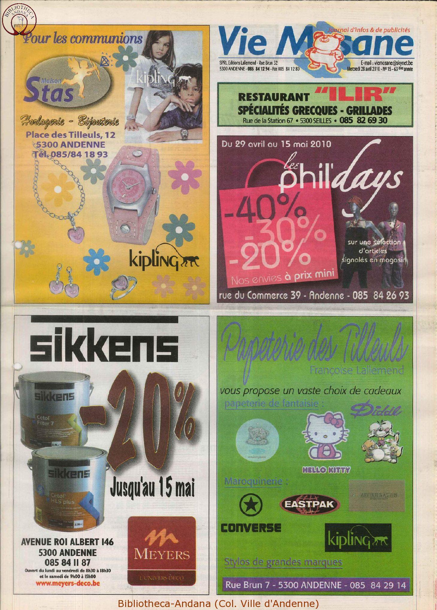 63e année - n°15 - 28 avril 2010