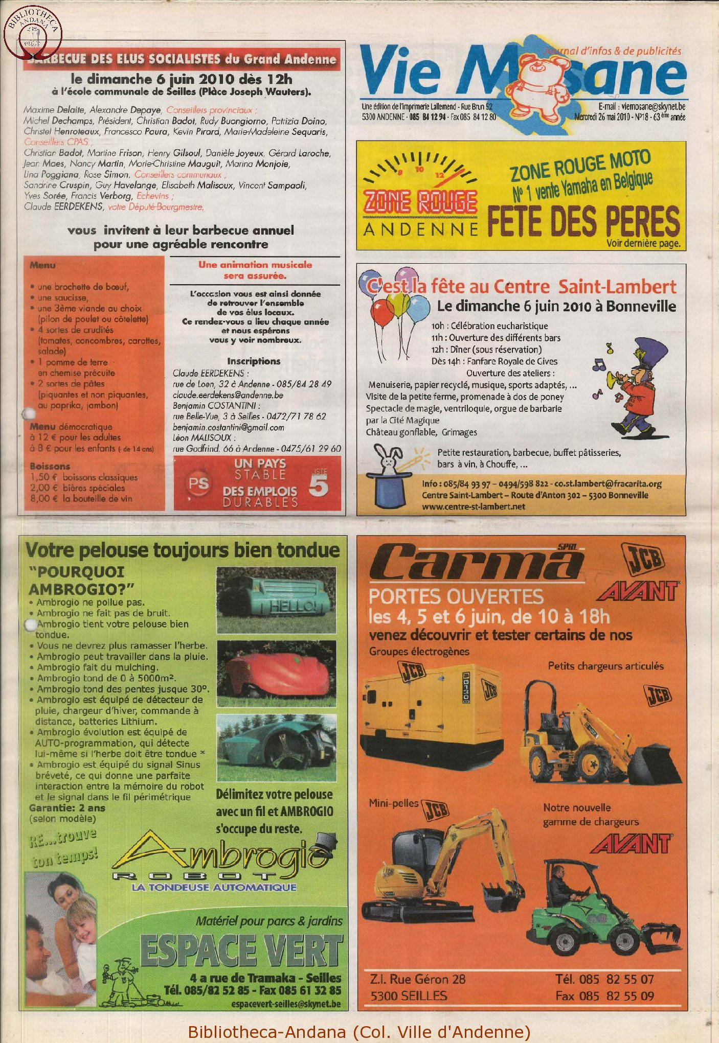 63e année - n°18 - 26 mai 2010