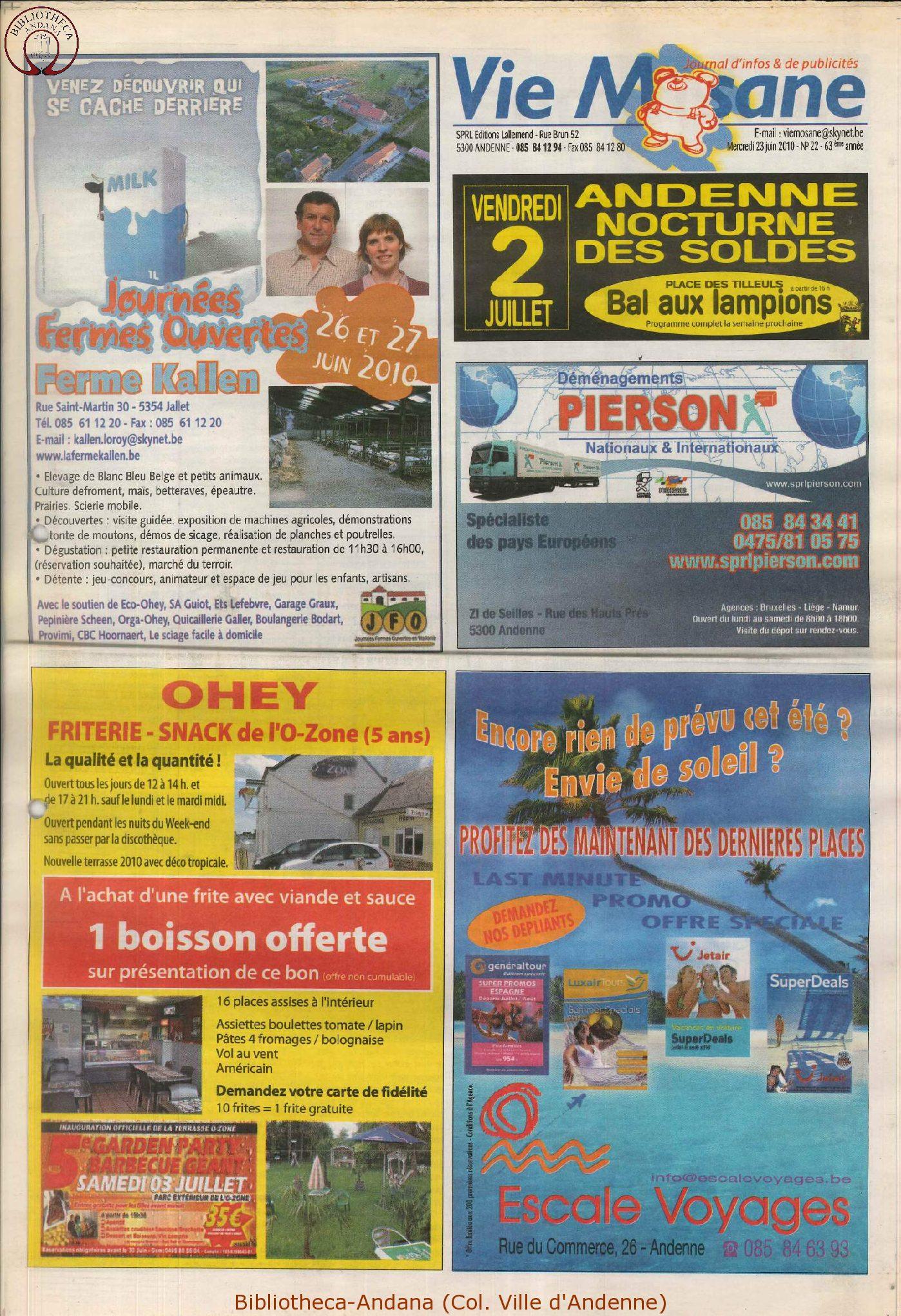63e année - n°22 - 23 juin 2010