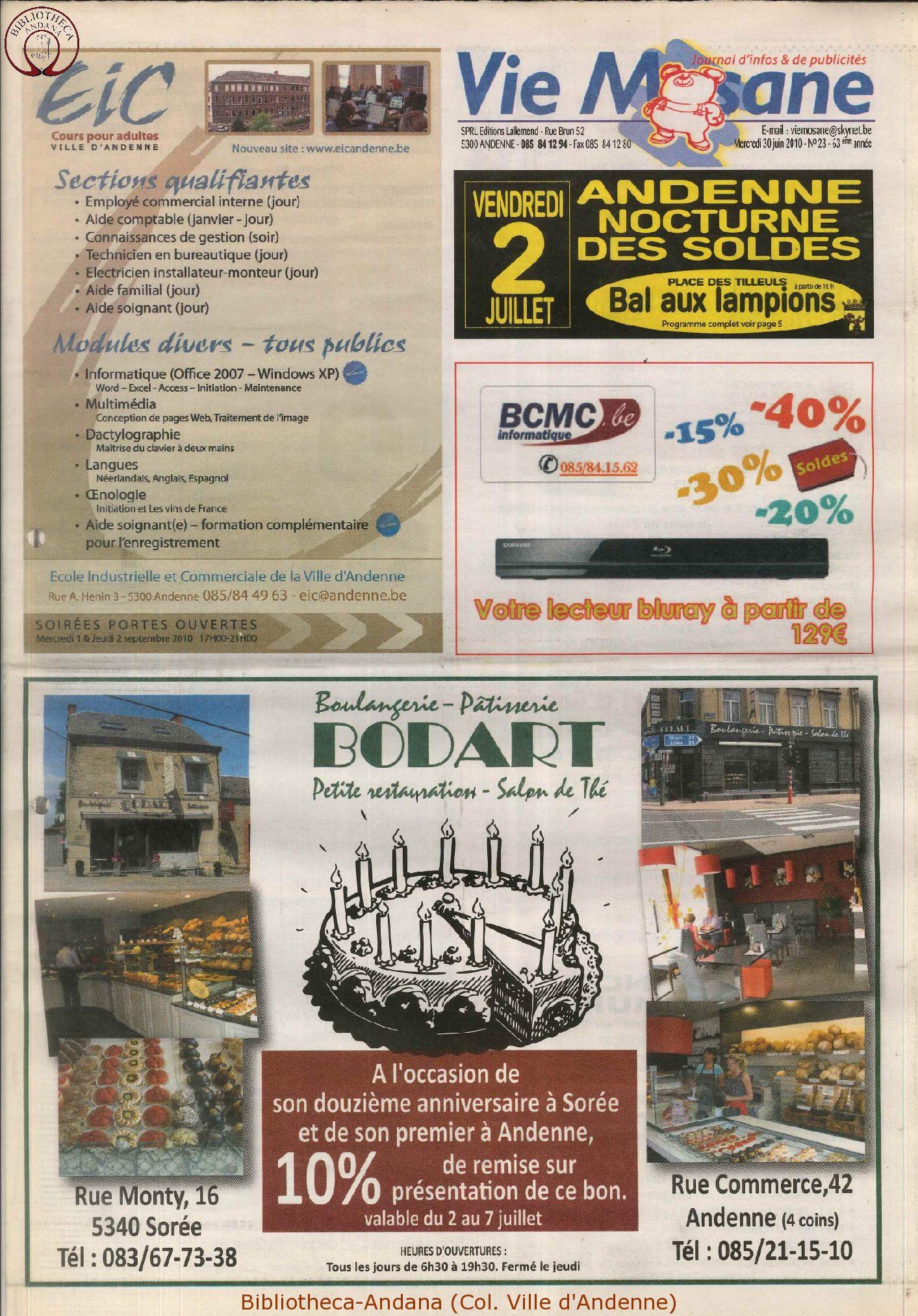 63e année - n°23b - 30 juin 2010