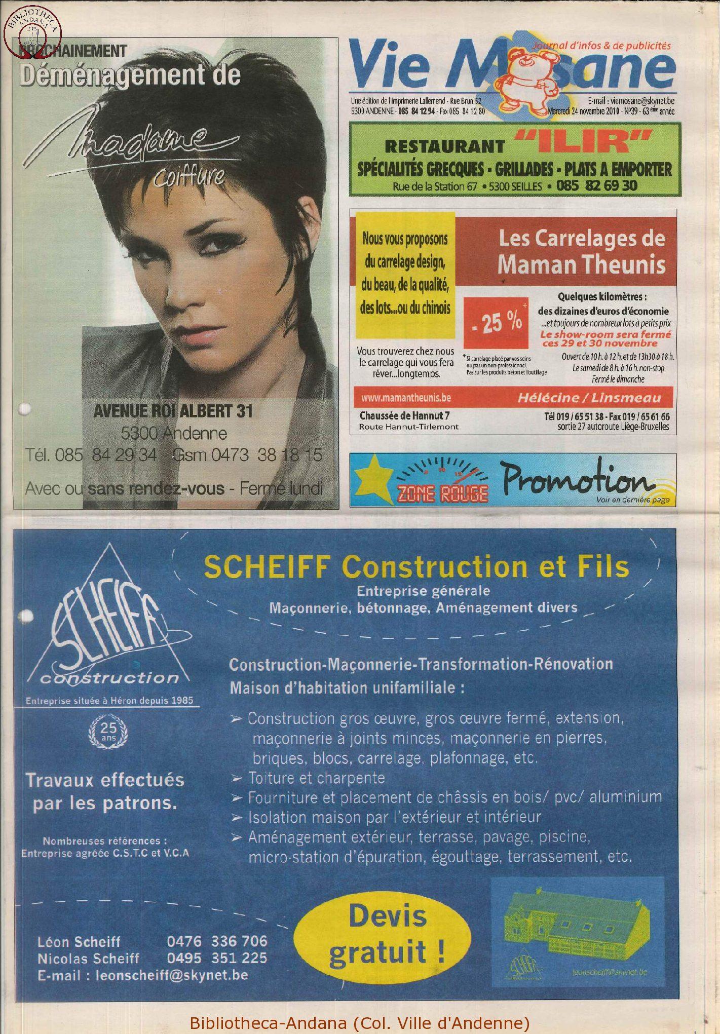 63e année - n°39 - 24 novembre 2010