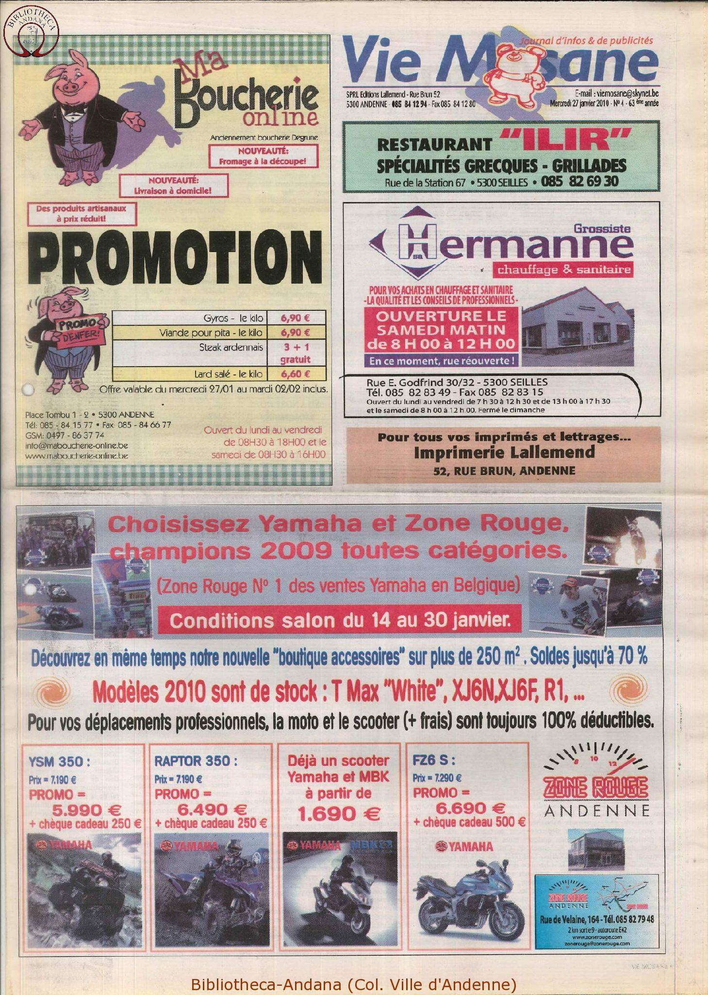 63e année - n°4 - 27 janvier 2010