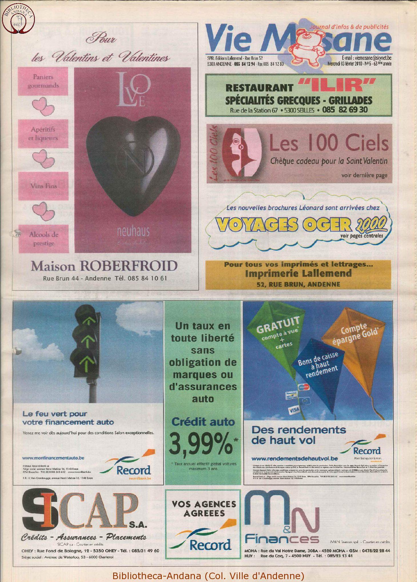 63e année - n°5 - 3 février 2010